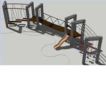 "Hercules / Construction for climbing ""Crimean bridge"""