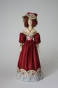 Doll gift porcelain. A lady dressed in European clothes (styling). 19th century. - view 1