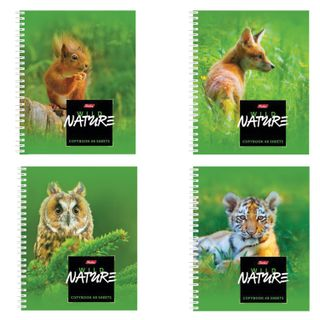 Notebook A5, 48 sheets, HATBER, comb, cage, cover cardboard,