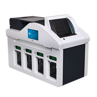 GRGBanking СM400 banknote counter-sorter, 1100 banknotes / min., IR-, UV- magnetic detection, 4 trays