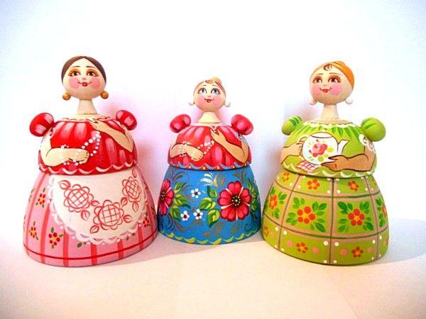 """Tver souvenirs / """"Tea-box"""", 3 pcs."""