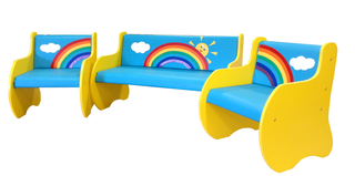 A set of children's play furniture
