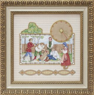 """Panel-watch """"Easter"""" beige with gold embroidery"""