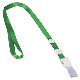 The lanyard, 45 cm, detachable plastic clip-lock loop, GREEN, BRAUBERG