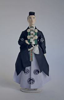 Doll gift. Theatrical men's costume, 18th century, Japan