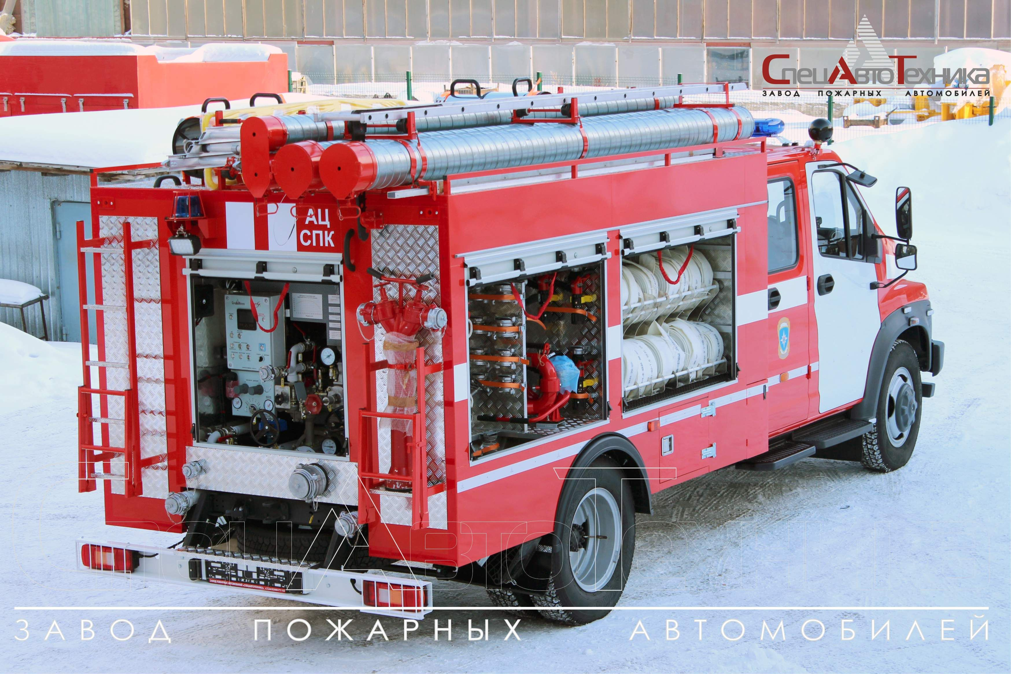 Fire truck with foam supply in compression method AC-SPK-1,0-40 (С42R33)
