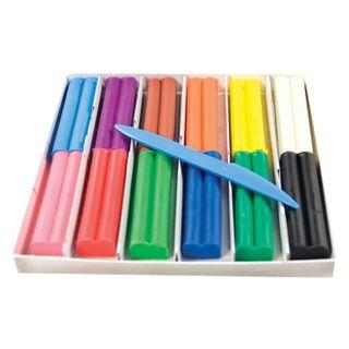Clay wax RAY Fantasy 12 colors, 180 g, with stack, carton