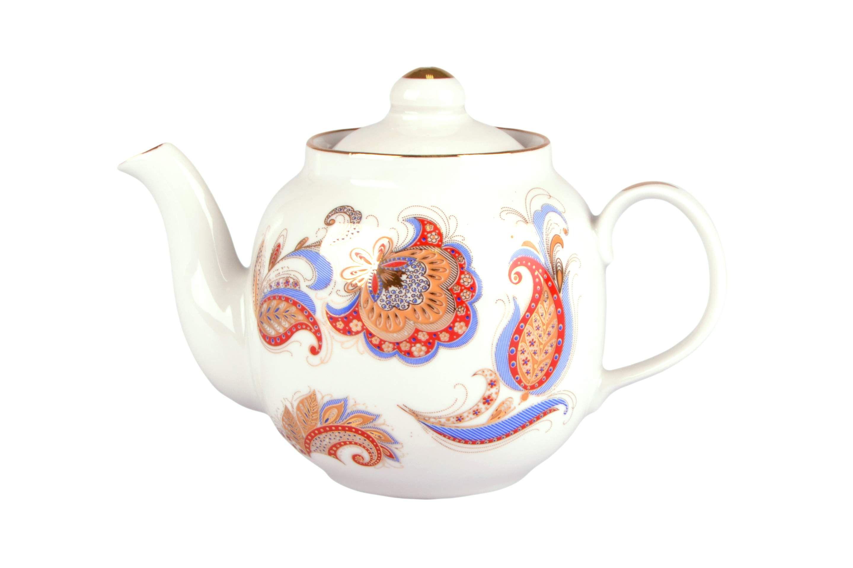 Dulevo Porcelain / Teapot 700 ml Amber Firebird Feather