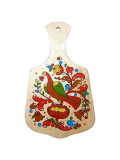 "Board kitchen wooden ""Boretskaya painting. Bird"" 24 cm"