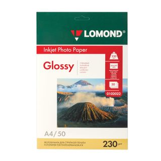 Photo paper for inkjet print, A4, 230 g/m2, 50 sheets, single-sided glossy LOMOND
