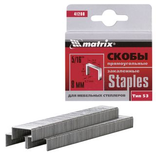 Staples for furniture stapler, type 53, 8 mm, MATRIX