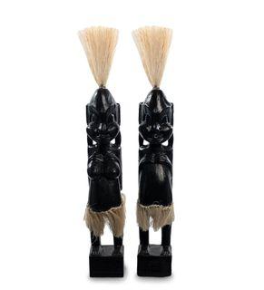 """Wooden statuette """"Asmat black"""" 33 cm"""