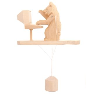 Souvenir Bear at the computer, Bogorodskaya toys