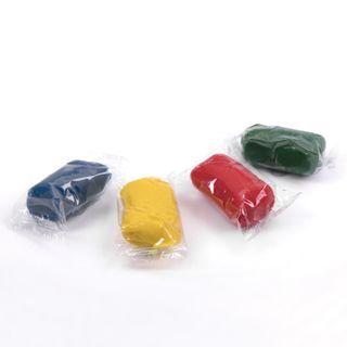 The plasticine plant-based (modeling dough) PYTHAGORAS, 4 colors, 240 g, plastic Cup