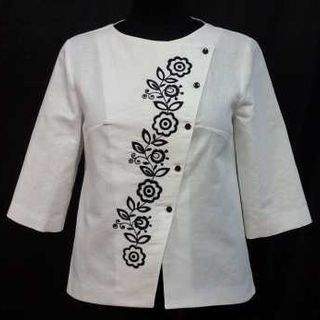 Jacket female linen with embroidery