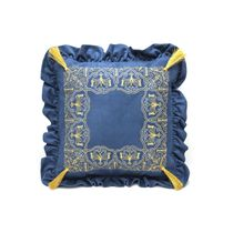 Cushion sofa 'in Dreams' in blue color with Golden embroidery