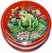 Kholuy art lacquer miniature box Frog Princess (Morozov)