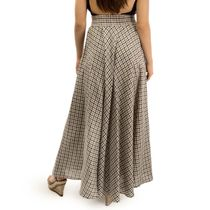 Skirt women's 'Grisaille' beige with silk embroidery