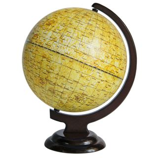 A globe of the moon 250 mm on wooden stand