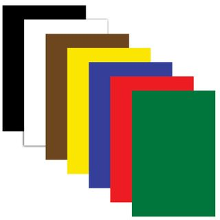 Cardboard A4 colored uncoated (matte), 7 sheets 7 colors, PYTHAGORAS, 200х283 mm