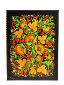 Address folder, Khokhloma painting, 32x23x2 cm