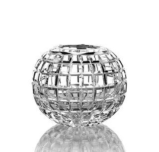 "Crystal vase for flowers ""Razotvet"" large colorless"