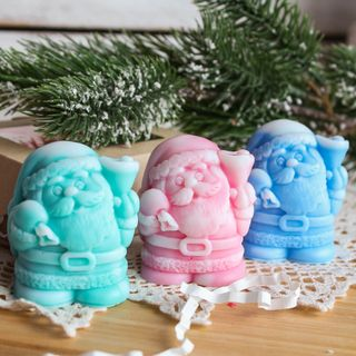 Soap gift handmade Santa Claus mix of colors and flavors