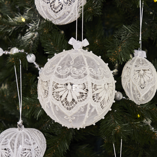 Set Christmas balls with hand embroidery, 3 PCs