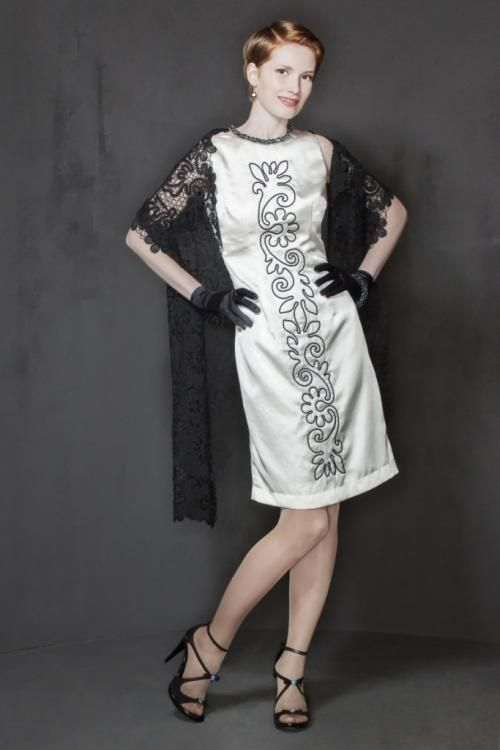 """Dress women """"rout"""" with embroidery"""