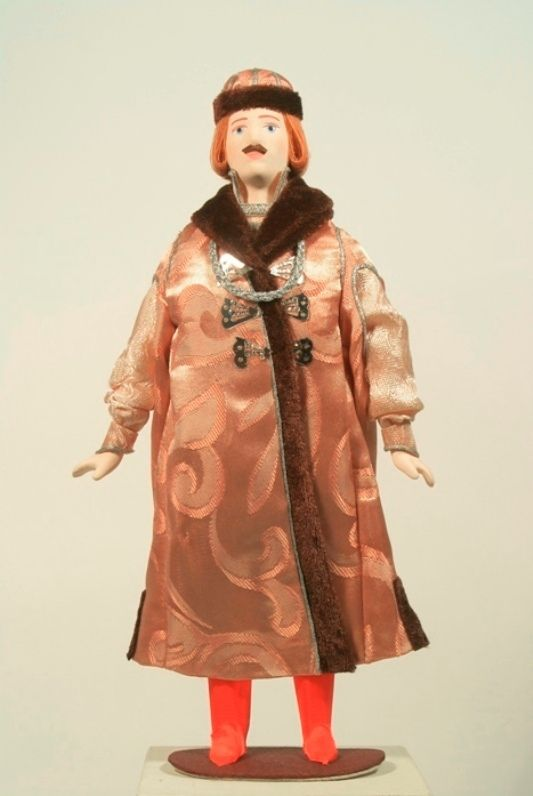 Doll gift. Royal costume. Moscow Mid-17th century.