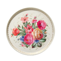 Zhostovo tray round author Yurasova Irina diameter 37 cm