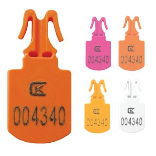 Seals plastic numbered MINI, for sealing bags, containers, assorted color, SET 250 pcs.