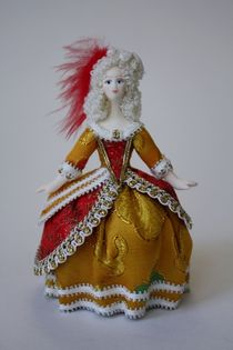 Doll gift. The court lady in ball dress