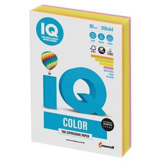IQ COLOR / A4 paper, 80 g / m2, 200 sheets, (4 colors), color, neon