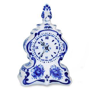 Table clock Cuckoo, Gzhel Porcelain factory