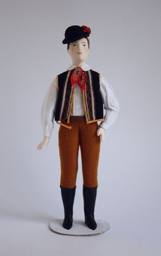 Doll gift. The male costume of the 20th century. Czech Republic (Bohemia).