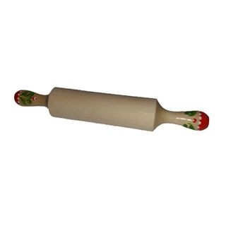 Wooden rolling pin with painted handles