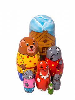 """Russian dolls """"Teremok"""" 7 dolls"""