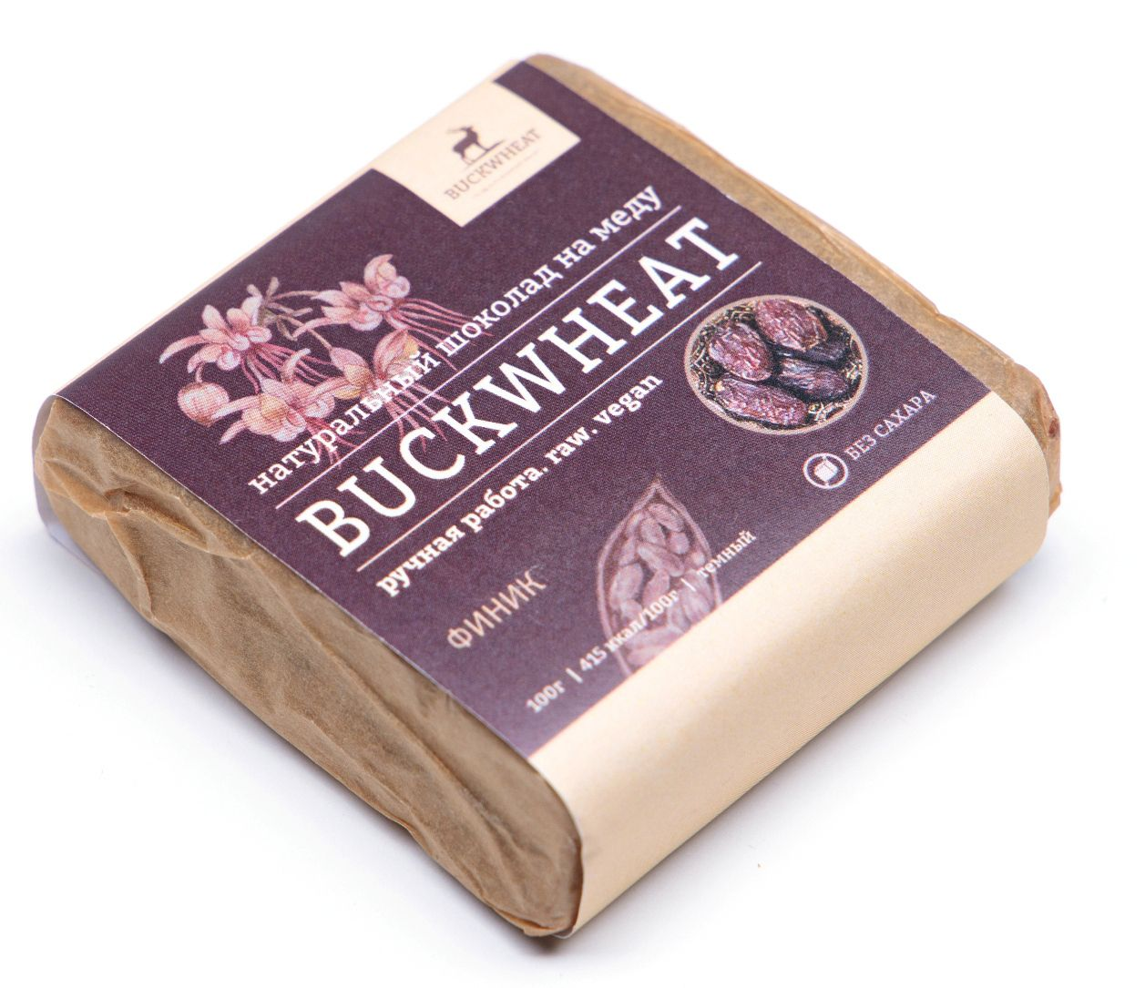 "Buckwheat / Chocolate on honey ""Date"", 100g, 10 pcs."
