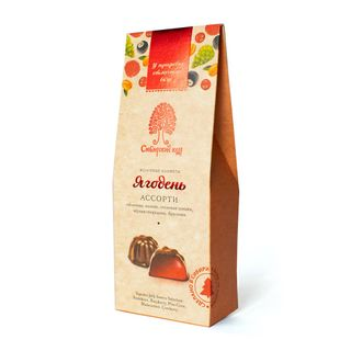 Assorted berries: raspberries, sea buckthorn, pine cone, lingonberry, currant 85 g