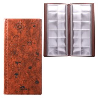 DPS / Album for coins or banknotes for 72 coins D up to 30 mm, 105х223 mm, pull-out pockets, brown
