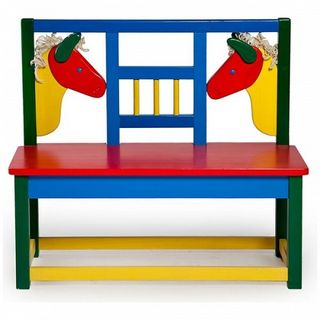 Bench kids wooden Pony