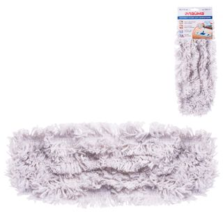 LIME / MOP attachment flat for mop / holder 40 cm, pockets (TYPE K), cotton (nap 4.5 cm)