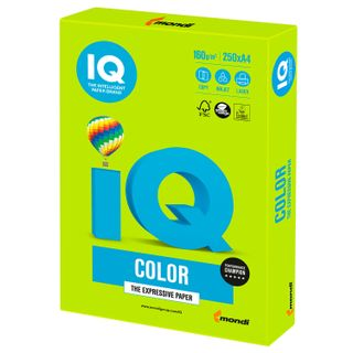 Paper, A4, 160 g/m2, 250 sheets, intensive, green lime