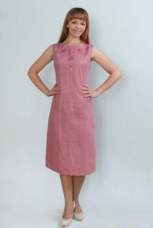 Dress womens linen 9-215