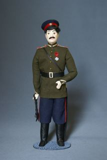 Doll gift porcelain. The military uniform. Don Cossack troops. Sergeant. 20th century. Russia.
