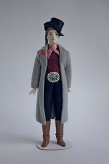 Men's festive costume. 19th century. Jinhua. Austria. Doll gift