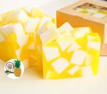 Pineapple Coconut whetstone 500g - handmade soap
