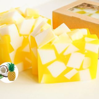 Pineapple Coconut whetstone 500g - handmade soap