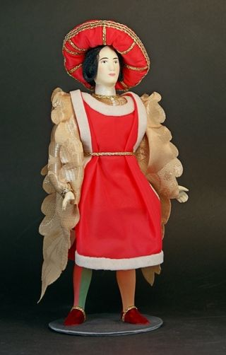 Doll gift. The Count Of Paris. The historic dress of a noble citizen. Italy. 15th century.